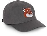 MAISON KITSUNÉ Fox Head 6P Caviar Cotton Blend Baseball Cap