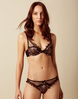 Agent Provocateur Carli Brief Black And Rose Gold