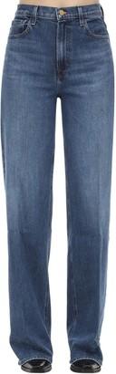 J Brand Elsa Monday Wide Leg Cotton Denim Jeans