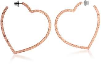 Rebecca R-ZERO Rose Gold Over Bronze Heart Earrings