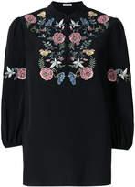 Vilshenko embroidered flower top