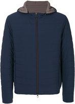 Loro Piana padded hood jacket - men - Suede/Nylon/Polyester/Spandex/Elastane - M