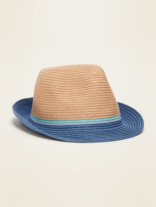 Old Navy Straw Fedora for Toddler Boys