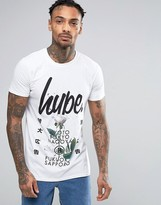 Hype T-Shirt With Floral Japanese Print