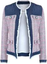 Pinko Tweed and Denim Jacket