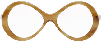 Chloé Tortoiseshell Retro Oval Glasses