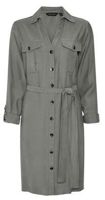 Dorothy Perkins Womens Khaki Utility Shirt Dress, Khaki