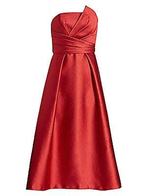 Theia Women's Strapless Fit-&-Flare Dress