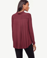 Ann Taylor Back Pleat Blouse