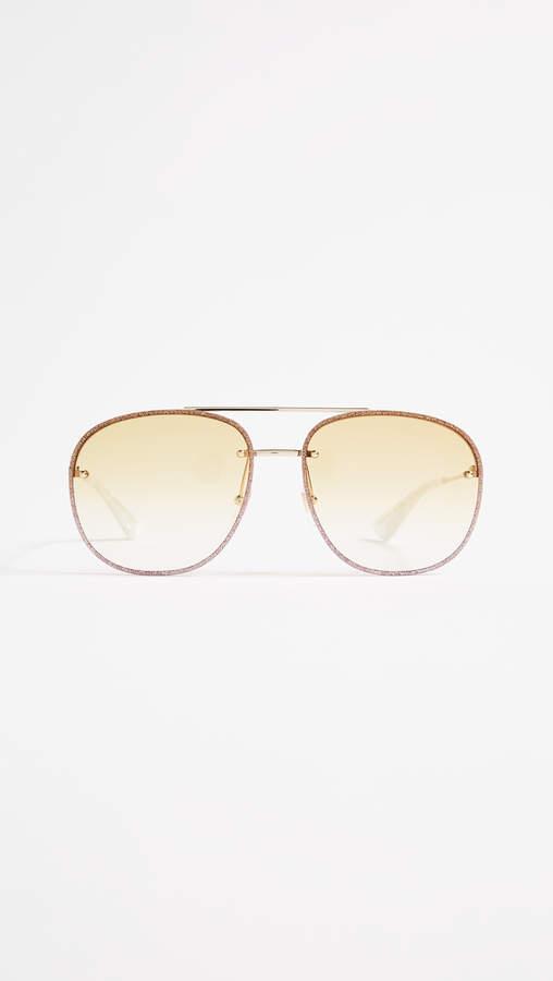 834588652683 Yellow Aviator Sunglasses - ShopStyle