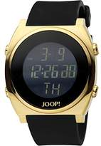 JOOP! Joop Gents LCD Men's Quartz Watch with Black Dial Digital Display and Black Plastic Strap JP100751F02