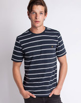 Farah Short Sleeve Crew Neck T-Shirt with Yarn Dyed Stripe