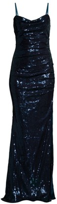 Faviana Sequin Ruched Gown