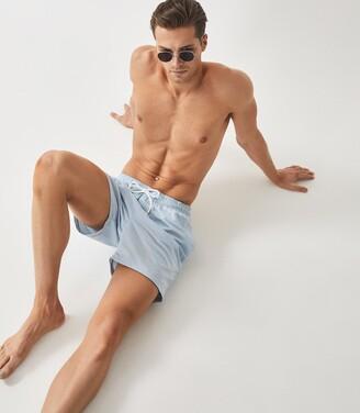 Reiss Sonar - Drawstring Swim Shorts in Soft Blue