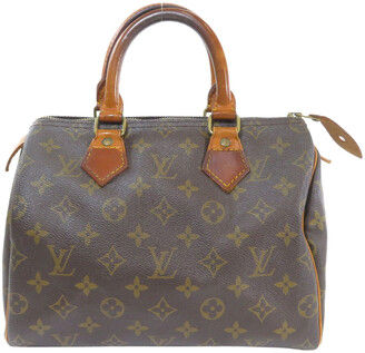 Louis Vuitton Brown Monogram Canvas Speedy 25 Boston Bag