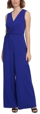 DKNY Asymmetrical Draped Jumpsuit