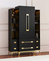John-Richard Collection Ebony Satin Tall Cabinet