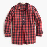 J.Crew Girls' red buffalo check shirt
