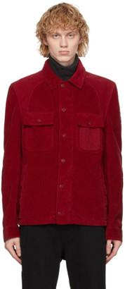 Belstaff Red Corduroy Rack Jacket