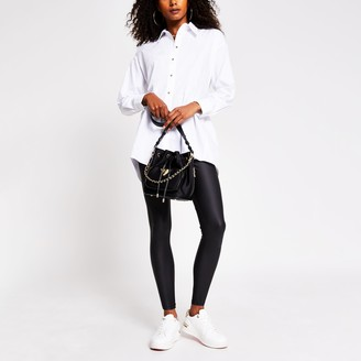River Island Womens White Tie back shirt