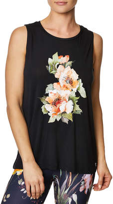 Betsey Johnson Stay Wild Floral High-low Tank