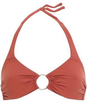 Melissa Odabash Ring-embellished Halterneck Bikini Top