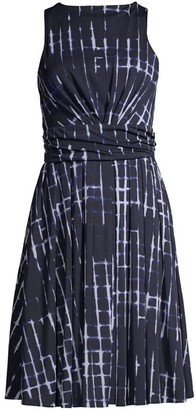 Donna Karan Tie-Dye Swing Dress