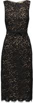Michael Kors Cotton-blend corded lace dress