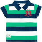 Jo-Jo JoJo Maman Bebe Rugby Shirt (Toddler) - Green Navy Stripe-3-4