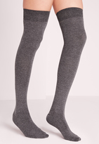 Missguided Phiphi Over Knee Socks Grey