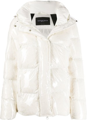Goose Tech Wet-Look Padded Jacket