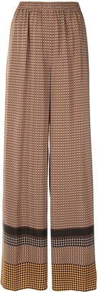Joseph Taffy plaid wide-leg trousers