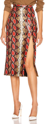 LaQuan Smith Kendall Skirt in Brown & Red Python | FWRD