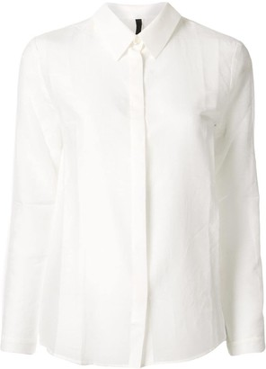 Sara Lanzi Slim-Fit Sheer Shirt