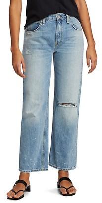Hudson Sloane Distressed Wide Jeans