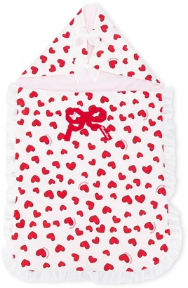 MonnaLisa Heart Print Sleeping Bag