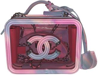 Chanel Vanity Pink Leather Handbags