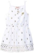 Juicy Couture Gold Foil Print Dress (Little Girls)