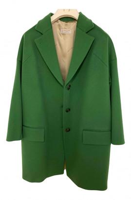 Alberto Biani Green Wool Coats