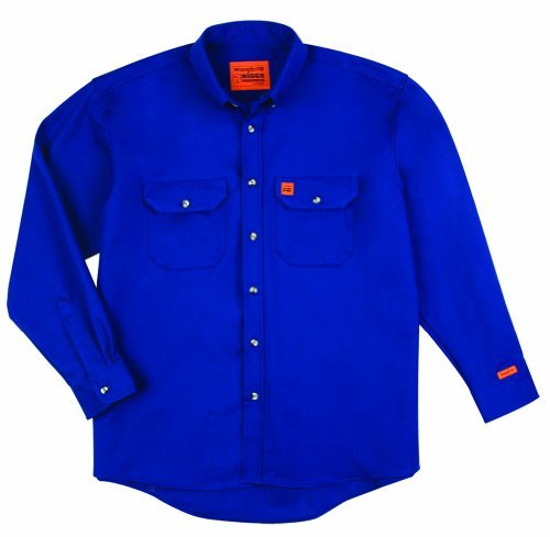 Wrangler Men's Big-Tall Fire Resistant Work Shirt with Two Front Pockets