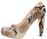 Loeffler Randall Embossed Round-Toe Pumps