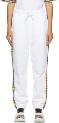 Burberry White Raine Check Lounge Pants