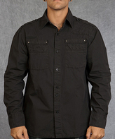 Rebel Spirit Black Double Pocket Button-Up - Men's Regular