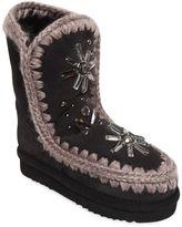 Mou Eskimo Kid Embellished Shearling Boots