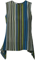 Akris Punto flappy striped blouse - women - Silk - 6