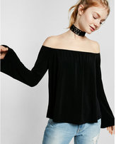 Express off the shoulder bell sleeve tee