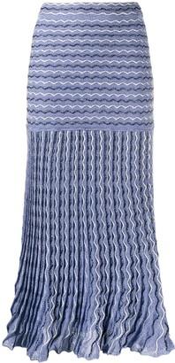 M Missoni High-Waisted Zigzag Skirt