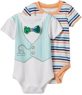 Baby Starters Baby Boy 2-pk. Vest Stripe Bodysuits