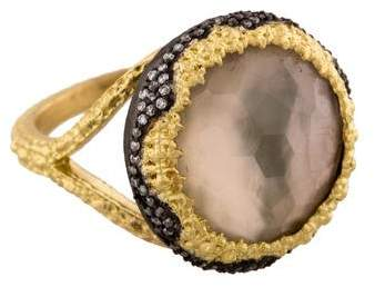 Armenta Old World Diamond, Mother of Pearl, & Smoky Quartz Ring