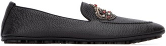 Dolce & Gabbana Crown Logo Embellished Loafers